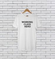 Wholesale class printing resale online - WORKING CLASS HERO AS WORN BY JOHN LENNON Cool Casual pride t shirt men Unisex New Fashion tshirt