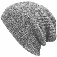Wholesale crochet baggy hats resale online - Winter Hats for Men Women Knit Casual Hat Crochet Baggy Beanie Ski Slouchy Chic Knitted Cap Skull Autumn Hat For Girl And