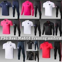 ropa de sudor al por mayor-2019 2020 de entrenamiento Real Madrid Chaqueta de Entrenamiento PSG Sweat Icardi Mbappé Sergio Ramos Modric Peligro Jovic Fútbol Ropa Jersey