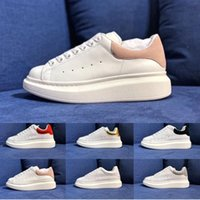 Wholesale mens basketball shoe us15 resale online - Top Luxury Designer Shoes Womens Mens trainers White Leather Platform Shoes Flat chaussures Party Wedding Shoes Suede Sports Sneakers