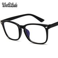 visiones ópticas al por mayor-Ordenador Rayos de luz azul lentes ópticos PC Anti radiación de vidrio Visión Protección de la deformación ocular Mujeres Hombres Gafas Marco WBL