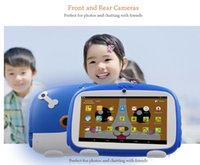 Wholesale best androids tablets resale online - 7 Inch New Cartoon Dog Kids Learning Tablet Pc Android Quad Core Installed Best gifts for Children Tablets Pc MB GB