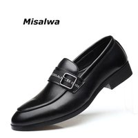 Misalwa Men s Korean 2019 Boat Shoes New Handmade Slip On Men Loafers  Leather Black Brown Driving Gentlemen Moccasins Plus Size 8fa5e1d4bdbf