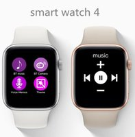 наручные часы магазин оптовых-Новые умные часы 4 W54 Сенсорный Экран Sapphire Mirror беспроводная зарядка MTK2502C 350 мАч Аккумулятор для Android iOS Смартфон SmartWatch