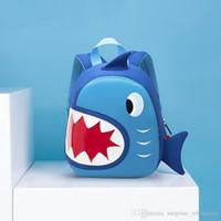 ingrosso borsa blu scuola dei ragazzi-Sacchetti di scuola impermeabile del bambino squalo blu Shark bambini bambini zaino animale del fumetto bambini sacchetti di scuola per ragazze ragazzi Sacchetto del bambino del bambino