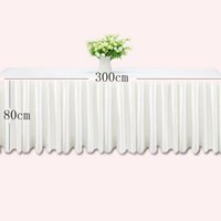 Wholesale ice silk wedding resale online - 0 m Table skirts white ice silk wedding table skirt cloth decoration hotel banquet event hotel home skirting pink