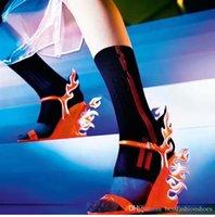calçados brancos calcanhares venda por atacado-Designer de cunhas mulheres sandálias gladiador vestido de salto alto sandálias de casamento rosa laranja branco chama senhoras sapatos de festa de verão sandálias de caminhada de gato