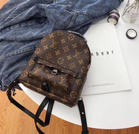 kahverengi kız okul çantaları toptan satış-Marka Moda Çocuklar Tasarımcı Sırt Öğrencilerin Okul Çantaları Yeni Yüksek Kalite PU Omuzlar Çantalar Moda Genç Kız Eğlence siyah kahverengi