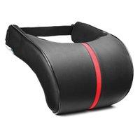 Wholesale car head neck rest pillow for sale - Group buy PU Leather Car Auto Seat Neck Pillow Memory Foam Head Neck Rest Headrest Cushion