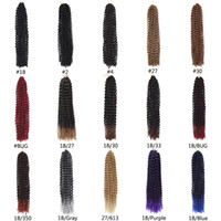 Wholesale bohemian kinky curly hair resale online - Passion Twist Crochet Hair Afro Kinky Curly Inch Long Bohemian Crochet Braid Synthetic Passion Twist Natural Hair Extension g