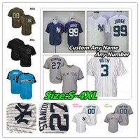ny trikots großhandel-NY Yankees Jersey Aaron Richter Giancarlo Stanton Mariano Rivera Umhang Babe Ruth Torres Don Mattingly Gary Sanchez 2 Derek Jeter Frauen Kinder