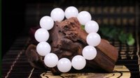 perlenschmucksacheporzellan freies verschiffen großhandel-Koraba Fine Jewelry China Mode Natürliche Weiße Jade Manuelle Schleifperlen Armband Elastisches Armband Freies Verschiffen