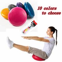 ingrosso yoga gonfiabile-33 centimetri Durable Yoga Universale gonfiabile di stabilità Balance Disc Massage Mat Cuscino yoga fitness sfera di massaggio con il gonfiatore ZZA1130