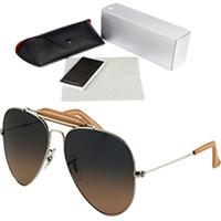lila brillen großhandel-Metall-Sonnenbrille Unisex Oval Frame Froschspiegel Beste Qualität Hip Hop Sonnenbrillen Lila Kreis Brille Glas Polarisierte Sonnenbrille 3422