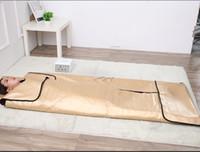 Wholesale far blanket resale online - New style Luxury Zoned Carbon fiber Far Infrared sauna Slimming Blanket
