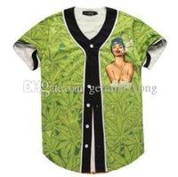 ingrosso maglia sottile-Camicia nwt 3D manica corta T Uomini Jersey di baseball Sport Slim attillata collo a V T-shirt casual Streetwear Trendy Style Buono