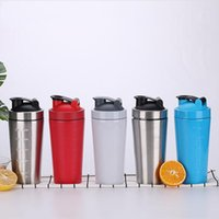 Wholesale shaking bottle resale online - Large Capacity oz Stainless Steel Water Bottle Shake Cups With Lid Double Wall Vacuum Insulated Bottle Portable For Sports