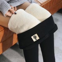 gefütterte gefütterte leggings groihandel-LOOZYKIT Frauen Wärme Fleece Leggings M-3XL Winter-Stretchy Yoga Pants plus Samt gefüttert dünne Thermal Pants weiche Gewebe-Street
