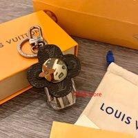 Wholesale cute keychains resale online - fashion cute sunflower key chain best quality luxury classic monogram brand design keychains for unisex top fashion accessories