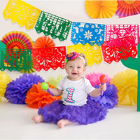 Wholesale flag garland resale online - Aytai Mexican Banner Garland Wedding Flag Banner Decorations For Themed Party Papel Picado Halloween Birthday Party