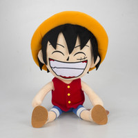 Wholesale anime one piece toy ship resale online - 2019 cm Anime One Piece figure plush doll Straw Hat Luffy figures plush toys