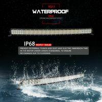 barra de luz delgada al por mayor-Quad curva de la fila LED Light Bar Delgado