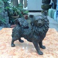 zodiac feng shui venda por atacado-Bronze animal decoração cão feliz cão 12 zodíaco artesanato enfeites de aniversário presentes decoração suave decoração feng shui
