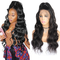 Wholesale malaysian human hair lace wigs for sale - Group buy Loose Deep Curly Lace Frontal Wig A Human Hair Wigs Body Straight Water Human Hair Lace Front wigs Brazilian Hair Peruvian Indian