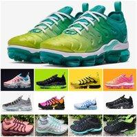 fotos pretas venda por atacado-2019 TN Plus Men Calçados Esportivos Triplo Preto Branco Pôr Do Sol Foto Lobo Azul Cinza EUA Sapatos de Grife Esporte Tênis Tênis Mulheres Tn Chaussures