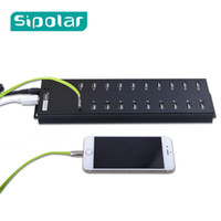 Wholesale refurbished tablets resale online - Sipolar Multi Ports USB HUB With External V A Desktop Power Adapter For Tablet Cellphone Refurbished Charging G Modem