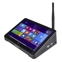 intel hd achat en gros de-Ordinateur Bureau Mini PC Nouveau PC Boîtier graphique Double HD PIPO X8S X8 Pro TV Windows 10 Intel Z3735F Quad Core Tv 2 Go / 32 Go