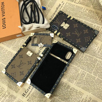 cajas de teléfono antichoque al por mayor-Funda de metal con diseño de marca para iphone XS max Xr X 7 7plus 8 8plus 6 6plus cubierta antichoque ya prueba de golpes