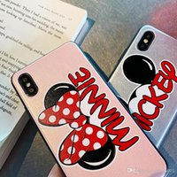 Wholesale black butterfly phone case for sale – best Butterfly knot Mickey s back cartoon soft phone Cases for iPhone s plus XR back cover for iphone x xr plus xs max case shell