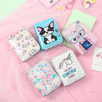 Wholesale coin purse gifts online - 5styles Unicorn cat coin wallet bag PU Wallet Pouch Clutch Short Wallet Card Holder cartoon student Purse Handbag kids gift FFA1597