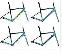 ingrosso cornice gialla bicicletta-Torayca T1100 set telaio bici da strada lucido o opaco 170 telaio da bicicletta bob 168 telaio bici da strada giallo zolfo 165 siderale bianco 166 red magma