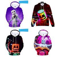 erwachsene baumwoll-sweatshirts großhandel-Warmes Sweatshirt für Erwachsene Unisex Hooded Sport Shirt DJ Marshmello Zuckerwatte Langarm Hoodie Bunte Mode 34hj C1