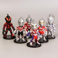 ingrosso torte di ragazzi-action figures di Ultraman per bambini 6 pezzi decorazioni per dolci baby kids toys decorazioni per la stanza boy girl indoor toys