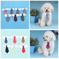 Wholesale baby clothes supplies resale online - 13styles Pet Dog Cat Striped Bows Tie Neck Baby Print Dog Apparel Clothing pet party decor supplies props FFA2842
