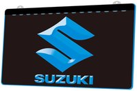 Wholesale dropshipping car for sale - Group buy LS944 b Suzuki Car Neon LED Sign jpg Decor Dropshipping colors to choose