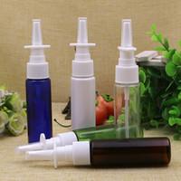 Wholesale medical bottles resale online - 100pcs ml Nasal Spray Bottle Medical Spray Bottles direct injection sprayer PET Plastic atomizer Cosmetic Spray Bottle