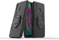 ingrosso cellulari di ferro-Per Samsung A8 9 Plus 2018 Anello Iron Man Guscio mobile A20 30 50 Supporto per auto Guscio di protezione coperchio A7 2018 Guscio di supporto