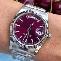 diseñador de moda relojes de oro rosa al por mayor-Oro rosa Hombres Ginebra Acero Roma Dial de lujo automático para hombre Día Fecha Diseñador de moda Relojes Relojes de pulsera montre