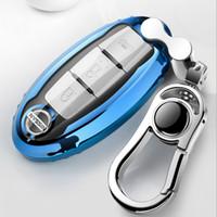 abdeckung für nissan autoschlüssel großhandel-Patent TPU Auto Autoschlüssel Fall Abdeckung Shell für Infiniti Nissan Sunny / Teana / X-Trail / Livina / Sylphy Autozubehör Styling