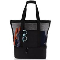 Wholesale bohemian bags online - Beach Cooler Bag Family Large Capacity Mesh Insulated Beach Cooler Tote Custom Beach Cooler Bag Durable Outdoor Picnic Bags Travel Bag