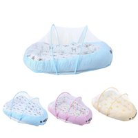 chinesische krippe großhandel-1 stücke Tragbare Baby Kleinkinder Krippe Bett Netting Chinesische Moskito Insektennetz Baby Safe Bettwäsche Netting Kissen Matratze