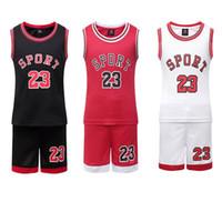 продажа майки оптовых-Горячие Продажи Детей Баскетбол Джерси Мальчики Дешевые Баскетбольная Рубашка Малыша Отброс Баскетбол Униформа Команда Tranning Basket Спортивная Одежда