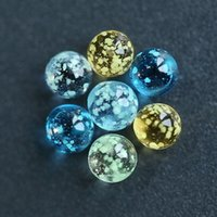 ingrosso inserti di tallone-Perle di vetro di 6mm per perline Inserto di perle luminose Incandescente in blu scuro Arancione chiaro per punta piatta Quartz Banger Nails Oil Rig