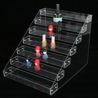 ingrosso visualizzatori acrilici-Acrilico trasparente Gel smalto per unghie Espositore per bancone Porta gioielli Contatore per rossetto Organizzatore per display Scatola per attrezzi