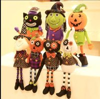 cadılar bayramı eşyaları toptan satış-Nicegift Cadılar Dekor Cadılar Bayramı Balkabağı cadı Teleskopik bebek Doll çoklu stilleri çocuklar hediye için Oyuncak bebek şeyler