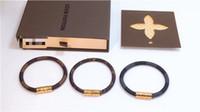 charme en fil d'or achat en gros de-Bracelet de l'espoir Tom 4 taille Bracelet de corde à la main Triple Black fil noir en acier inoxydable bracelet ancres noir avec boîte et étiquette KKA1995